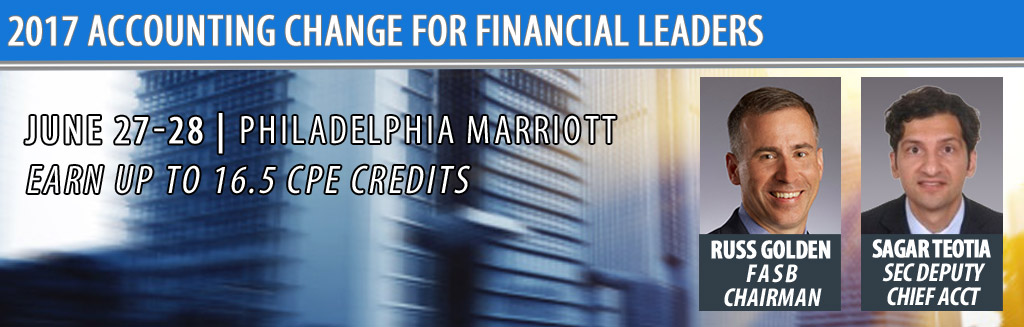 FEI's 2017 Accounting Change for Financial Executives - June 27-28 in Philadelphia