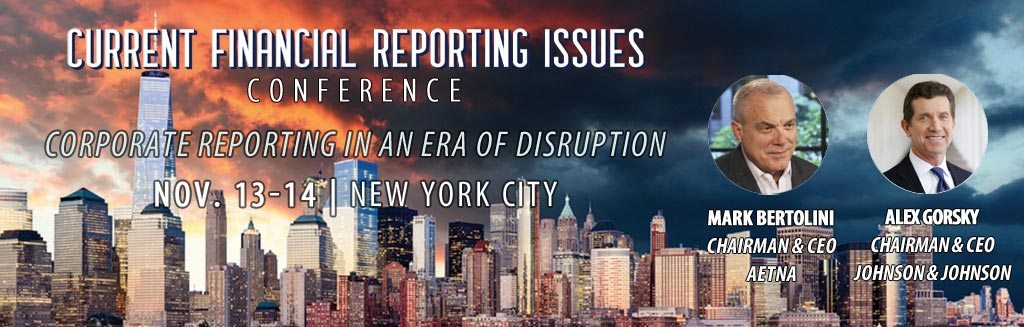FEI's Current Financial Reporting Issues (CFRI) Conference - Nov. 13-14 in NYC