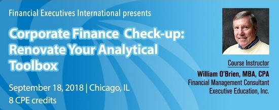 Corporate Finance Check-up - Sept. 18 in Chicago