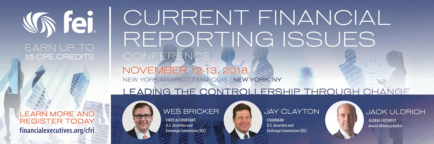 Current Financial Reporting Issues Conference - Nov. 12-13 in NYC